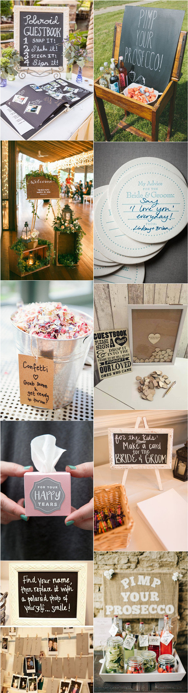 top 10 wedding ideas from pinterest