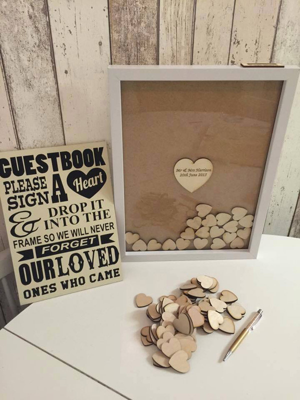 unique DIY wedding guest book ideas