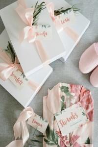 wedding bridesmaid gift ideas pastel robes