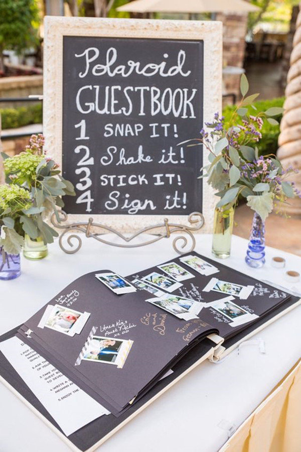 wedding guest book ideas with polaroid