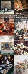 2017 trending rustic wedding dessert table decoration ideas