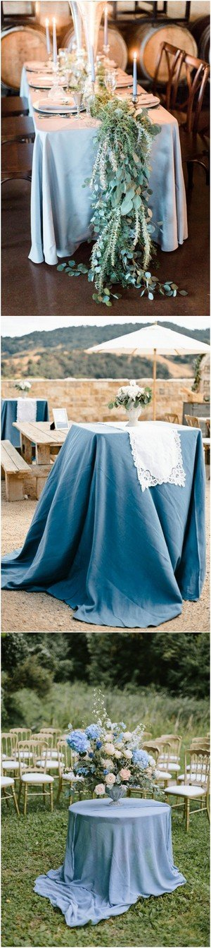 country rustic dusty blue wedding table decoration ideas