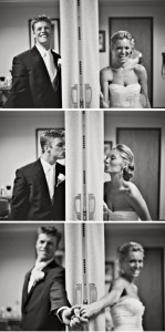 first look to touch wedding photo ideas
