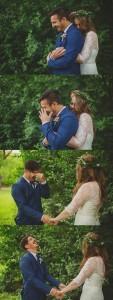 heart melting first look wedding photos