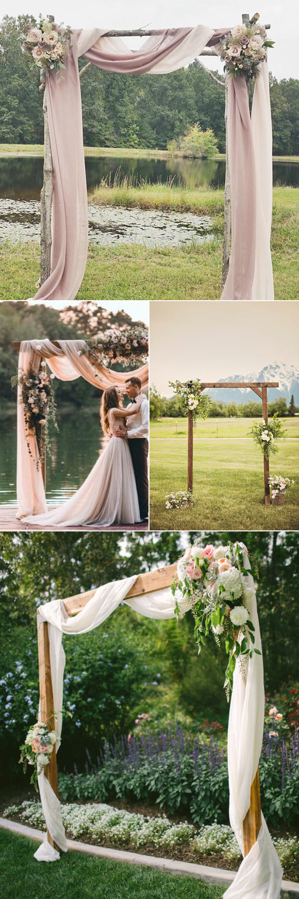 32 rustic wedding decoration ideas to inspire your big day oh best rustic wedding arches for your outdoor wedding ideas junglespirit Gallery