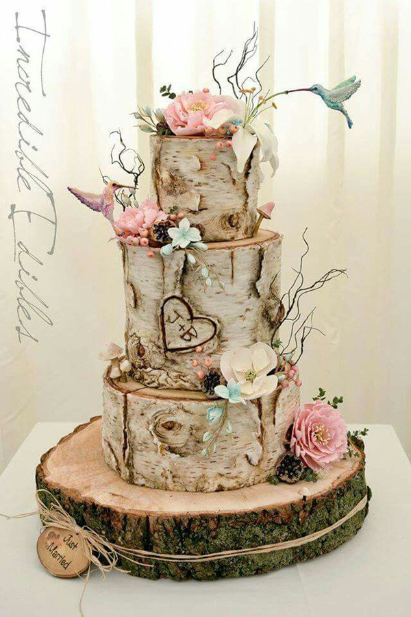 unique woodland wedding cake ideas for 2017