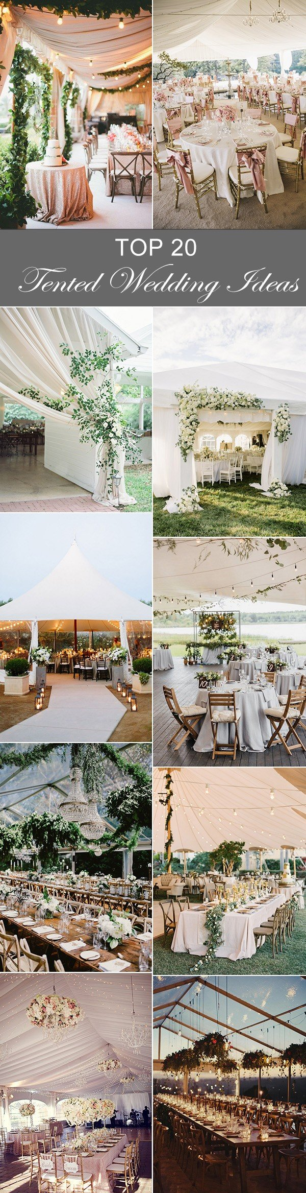 2017 trending 20 tented wedding reception ideas