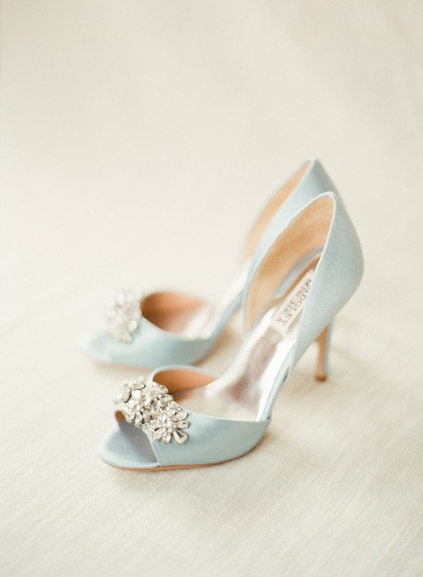 Badgley Mischka Tiffany Blue Wedding Shoes