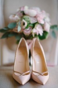 Christian Louboutin elegant bridal wedding shoes