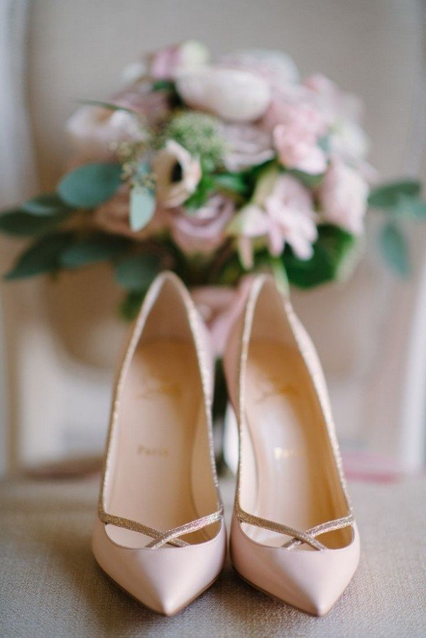 Christian Louboutin elegant bridal wedding shoes