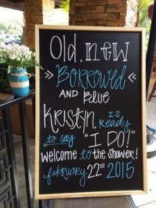 chic rustic bridal shower welcome sign
