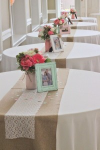 chic rustic lace and burlap bridal shower ideas