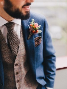 chic vintage groom suit for fall weddings