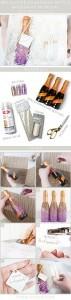 diy glitter champagne bottle bridesmaid proposal gift ideas