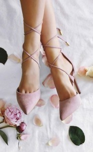 dusty rose lace up bridal shoes for 2017