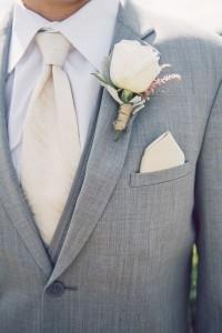 elegant gray and white groom suit
