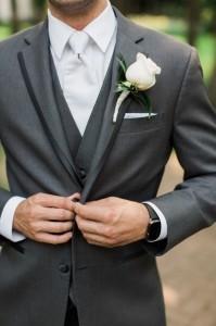 elegant gray and white groom suit ideas
