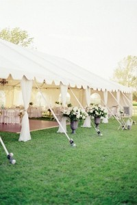 elegant tented garden wedding ideas