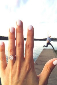 engagement photo ideas with wedding rings