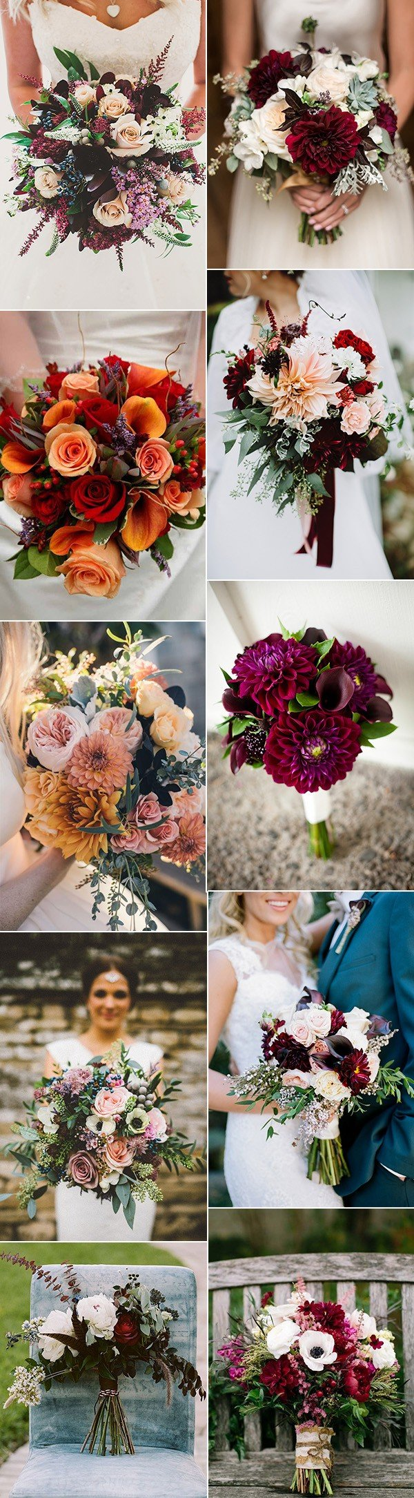 fall wedding bouquets flower ideas