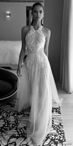 halter embellished ruched bodice lace sheath a line vintage wedding dress from elihav sasson
