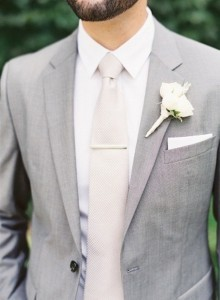 light gray and white elegant groom suit wedding ideas