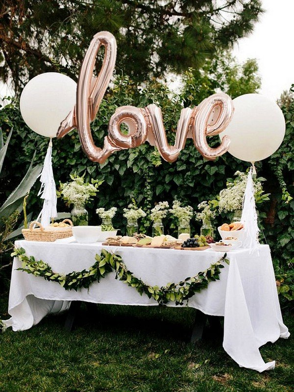 love themed bridal shower decoration ideas