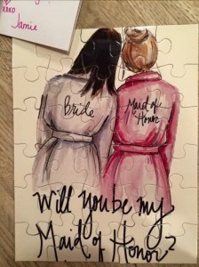 matron of honor proposal ideas