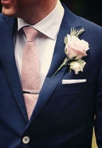 navy and blush wedding groom suit ideas