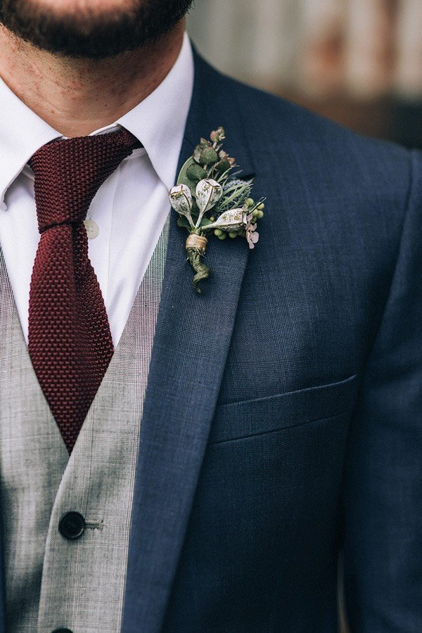navy and burgundy fall wedding groom suit ideas , Oh Best