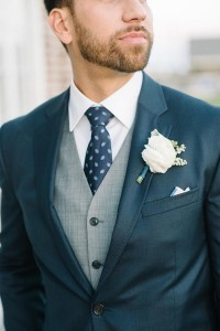 navy and white groom suit wedding ideas with white boutonniere