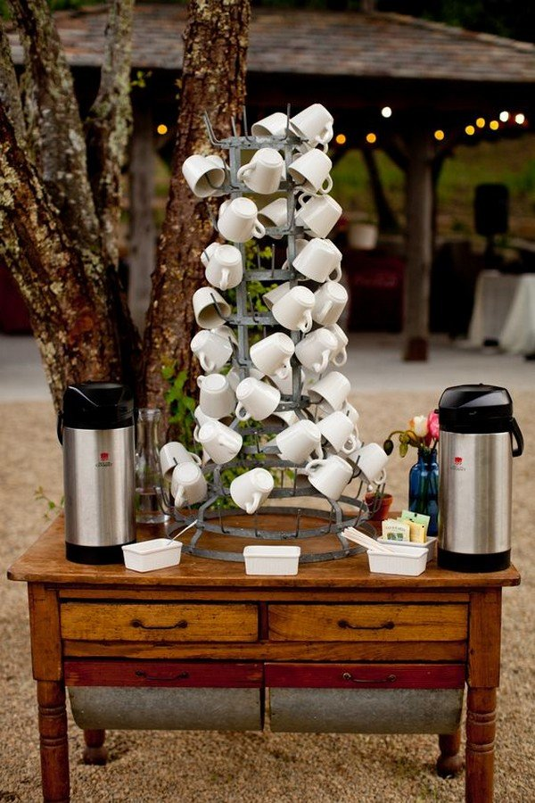 outdoor coffee station for rustic wedding ideas