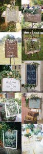 rustic vintage wedding sign decoration ideas