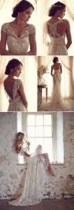 vintage lace wedding dress for 2017 trends