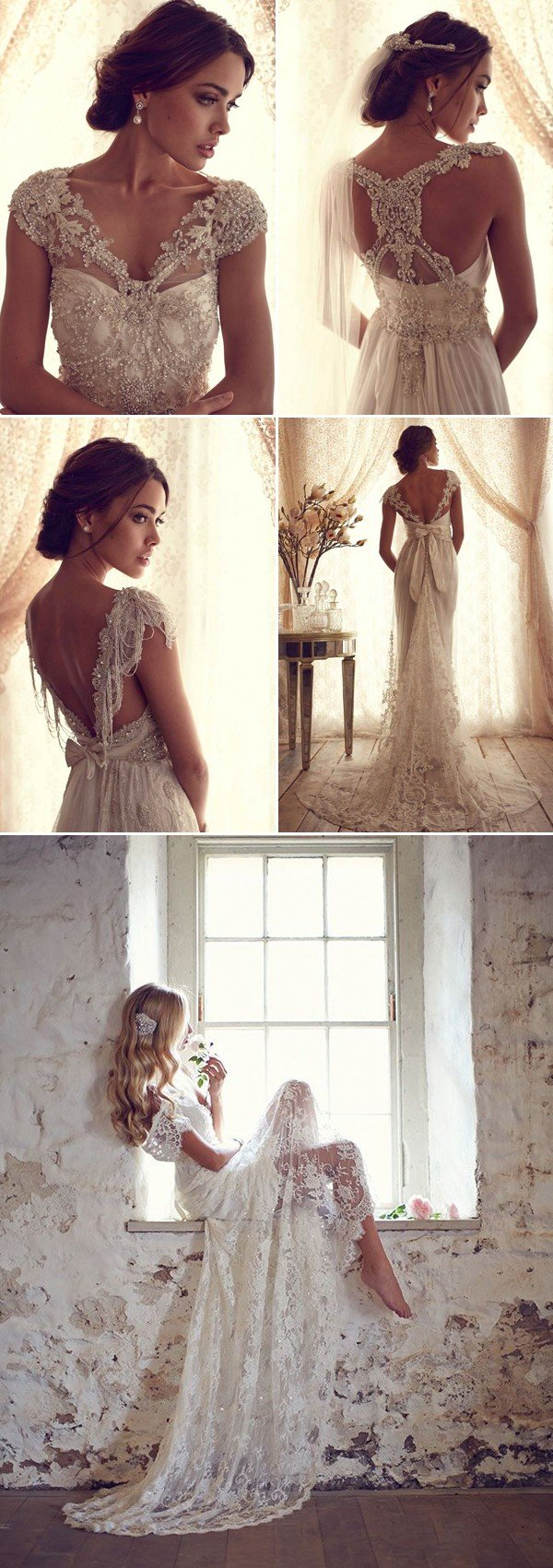 vintage lace wedding dress for 2017 trends