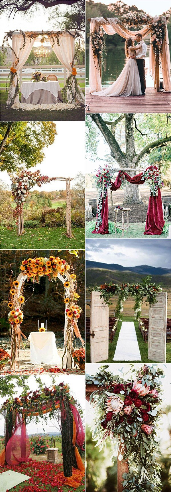 wedding arches decoration ideas for fall