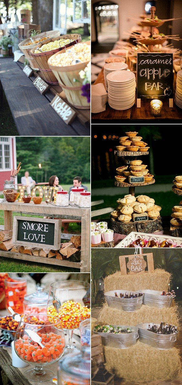 wedding buffet food and drink ideas for fall