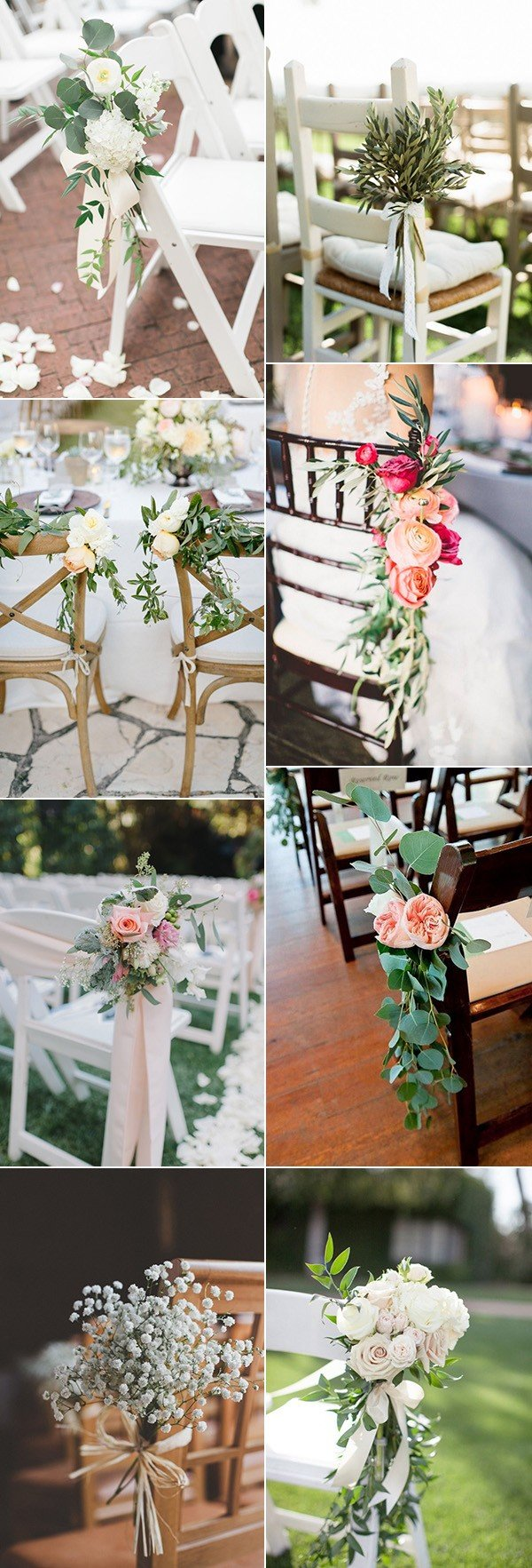 wedding chair decoration ideas with florals