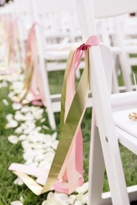 wedding chair decorations with ribbons
