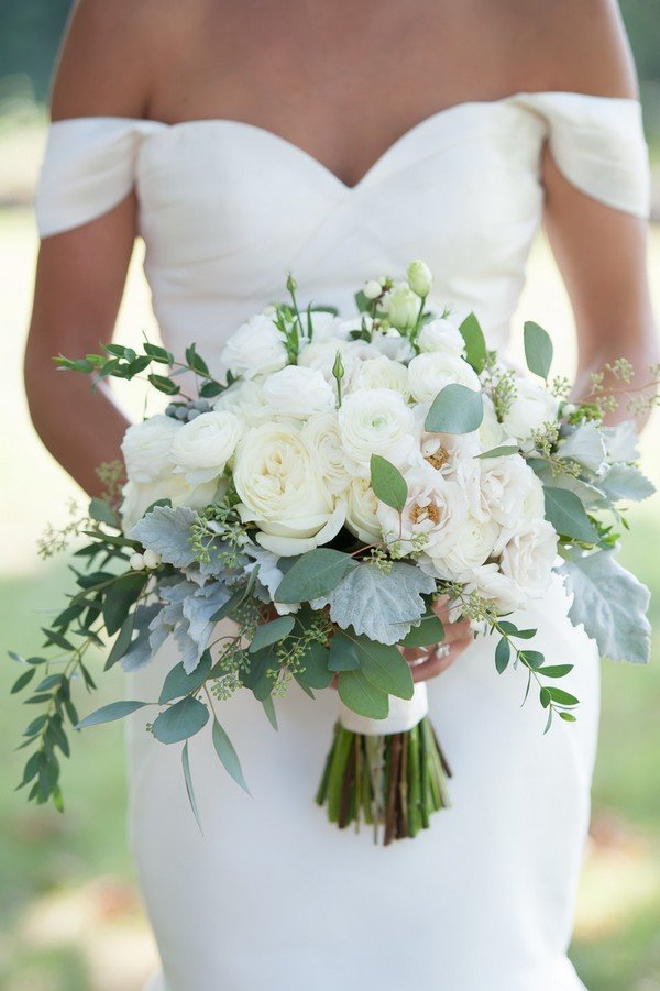 Top 10 White and Green Wedding Bouquet Ideas You\'ll Love - Oh Best ...