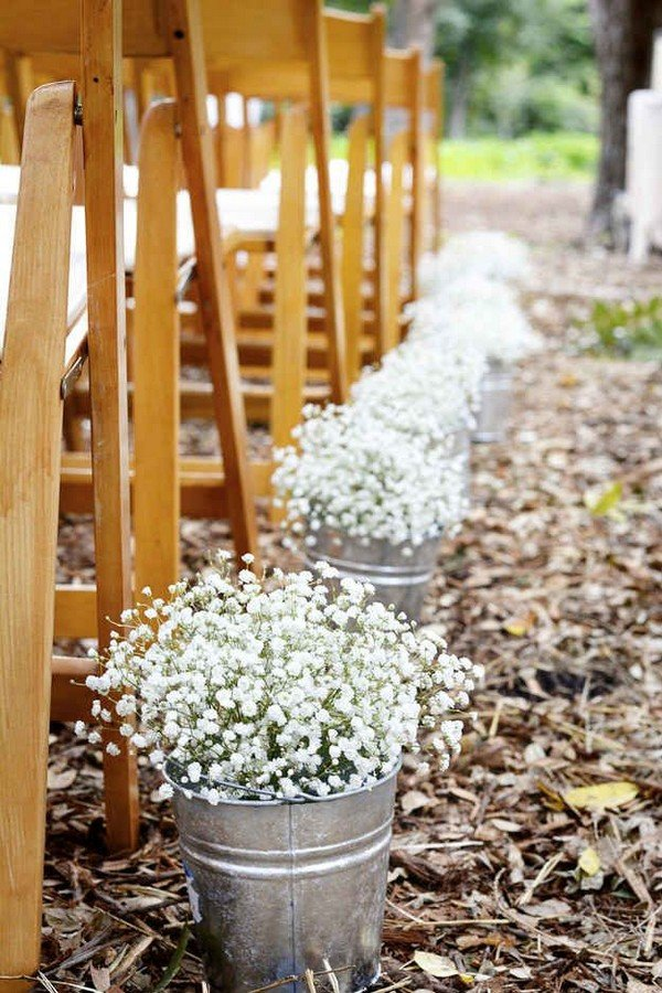 baby's breath wedding aisle decoration ideas
