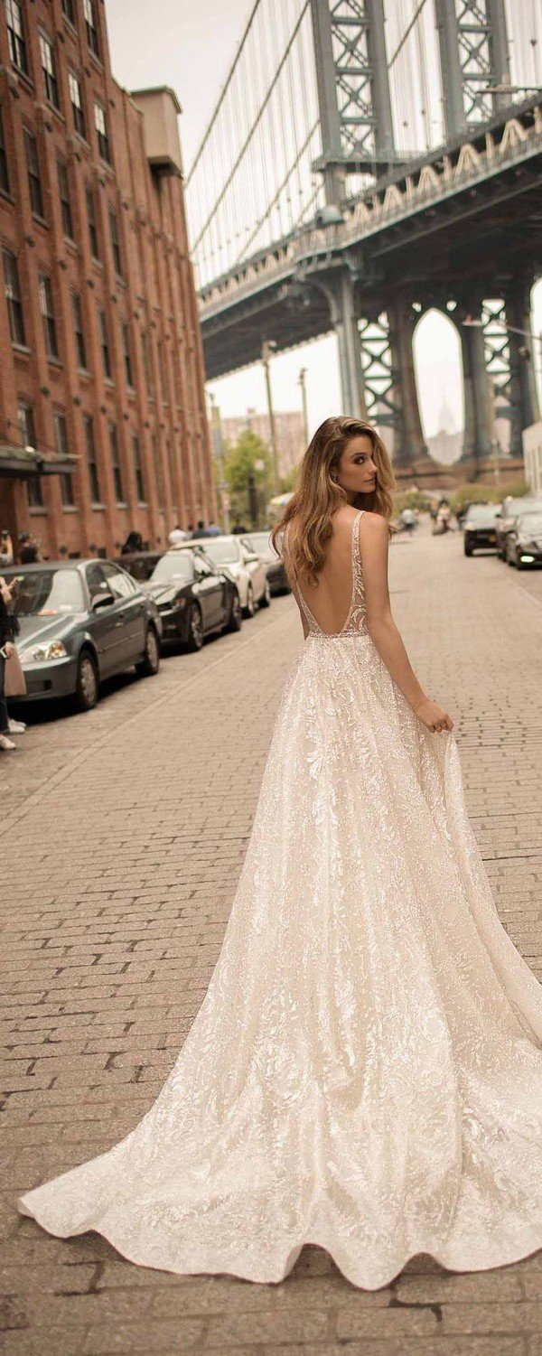 berta sequins low back wedding dresses spring 2018 collection 18-3