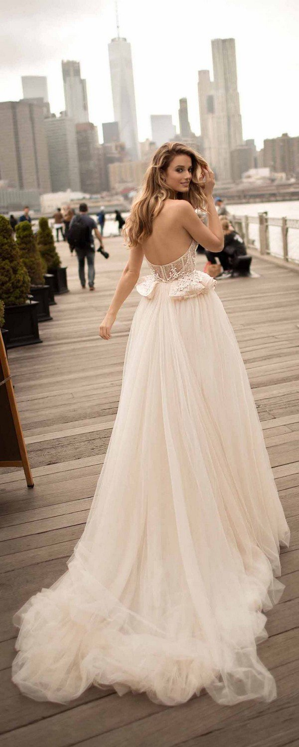 berta strapless low back wedding dresses 2018 spring collection 18-9