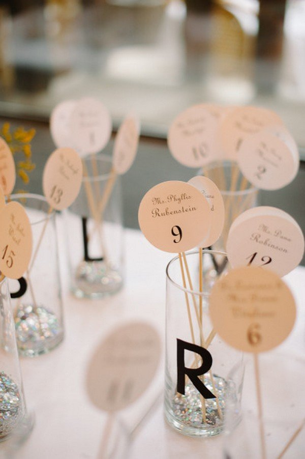 creative wedding escort card ideas