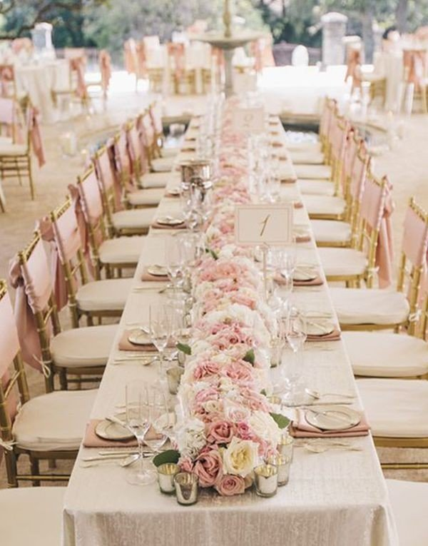 Dusty Pink And Gold Vintage Wedding Table Decoration Ideas Oh Best