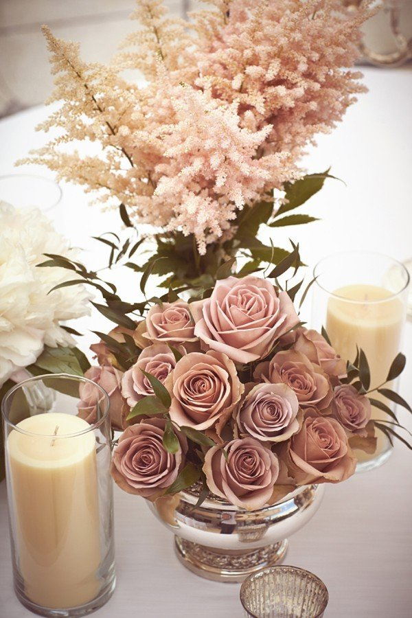 dusty pink wedding centerpiece ideas for 2017