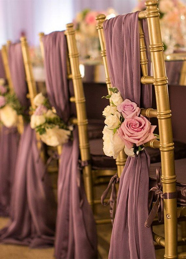 dusty rose wedding chair decoration ideas