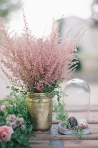 dusty rose wedding color inspired centerpiece ideas