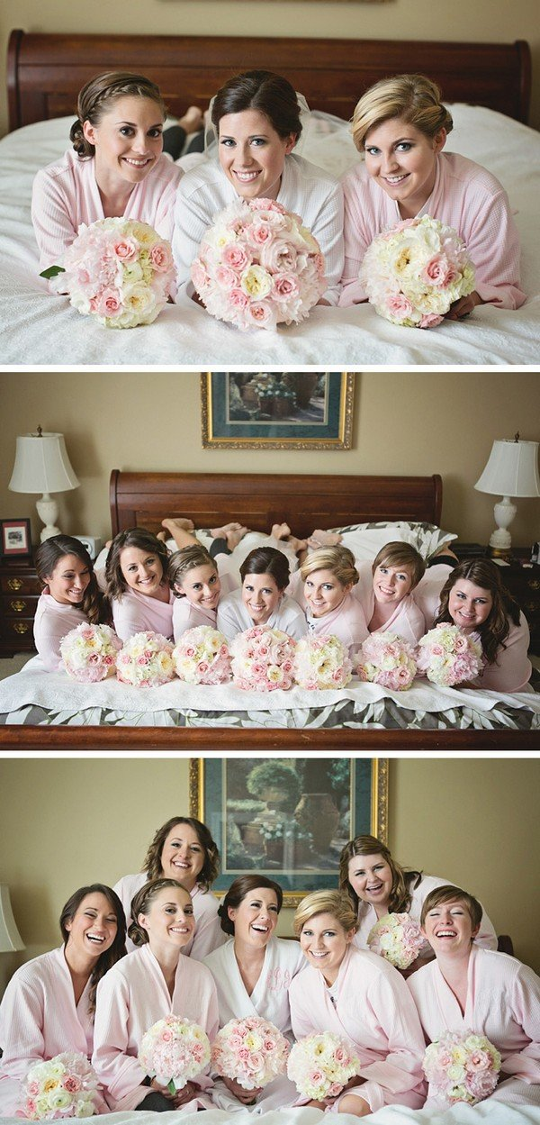 get ready before wedding photo ideas with bridesmaids