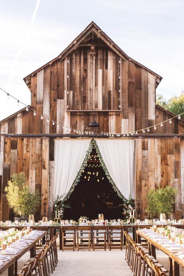 gorgeous rustic barn wedding reception ideas